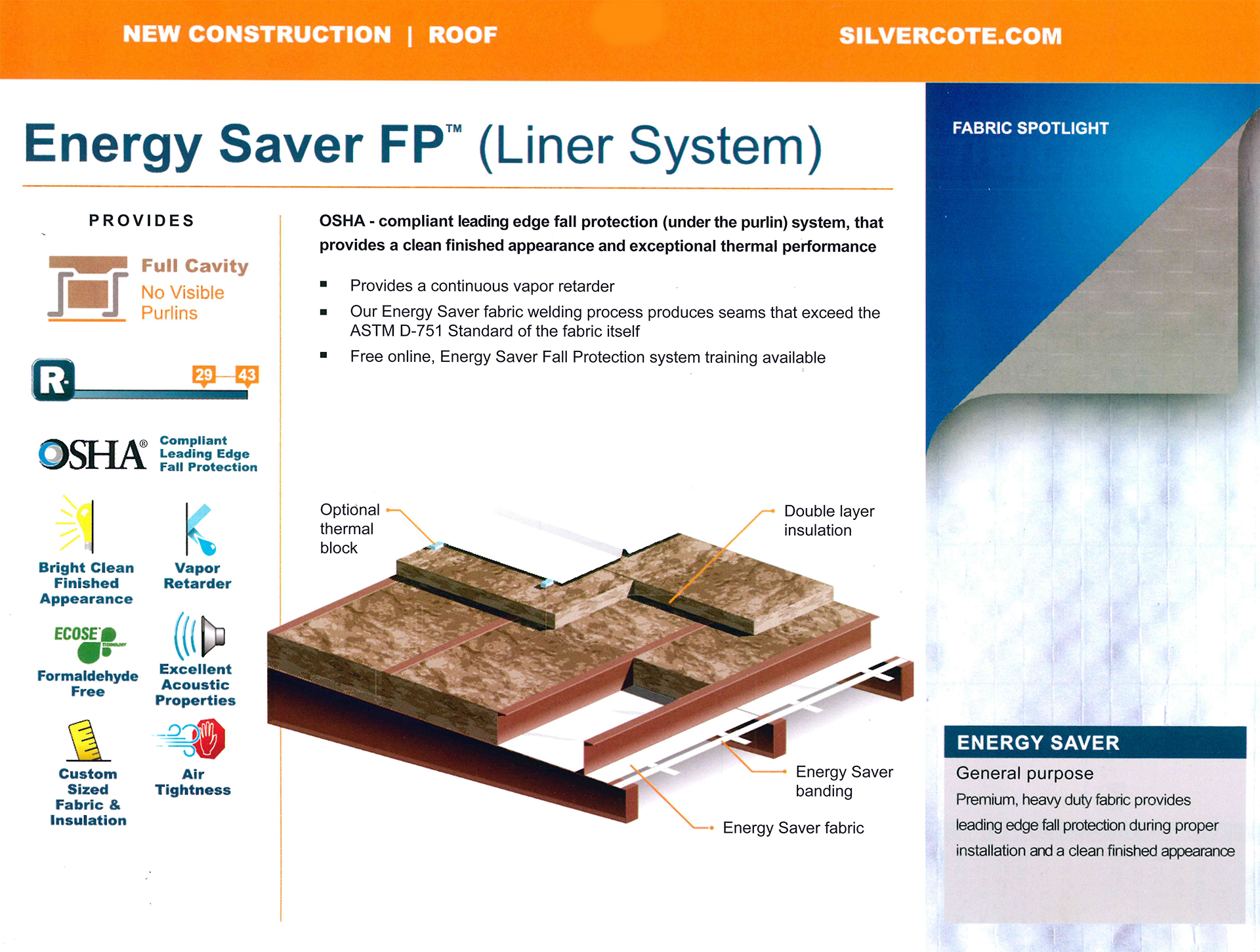 Energy Saver FP Liner Panel