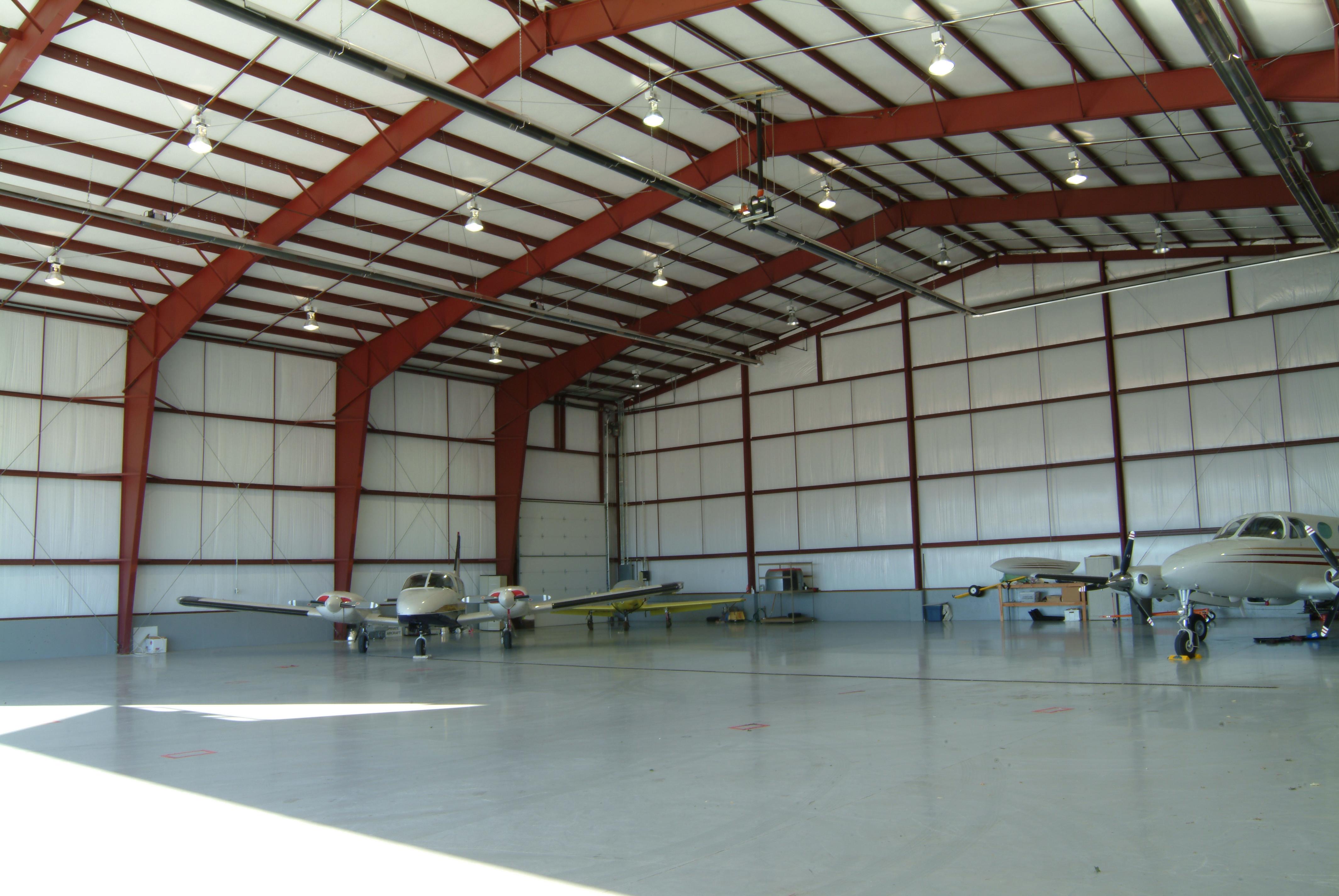 Inside Of A Steel Aircraft Hangar