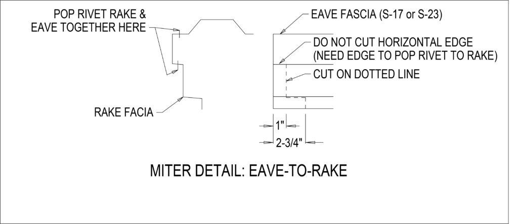 S-17 Miter Detail - Eave to Rake